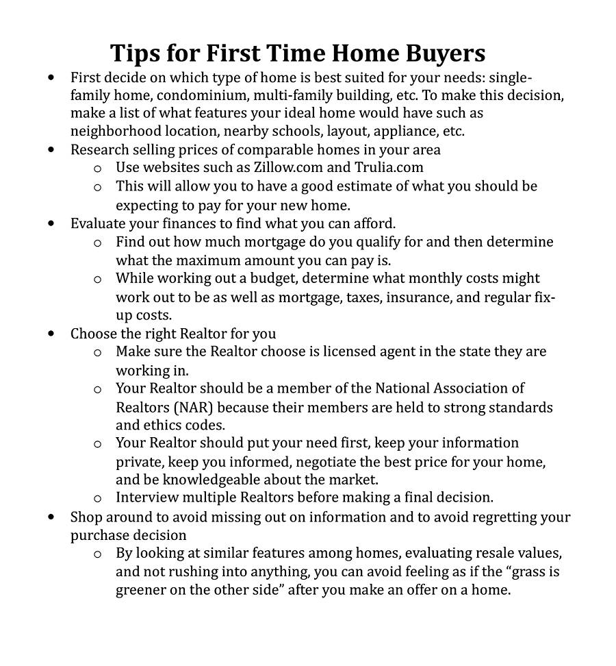 St Time Home Buyer Tips on home business tips, home inspection tips, home owners tips, home selling tips, home staging tips, home seller tips,